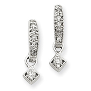 14K White Gold Vintage Diamond Earrings