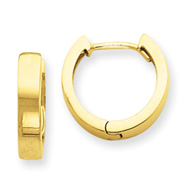14K Gold Hinged Hoop Earrings