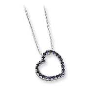 Sterling Silver CZ Heart With Chain Necklace