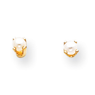 14K Gold June Cultured Post Earrings
