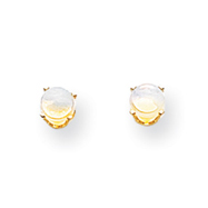 14K Gold October Opal Post Earrings