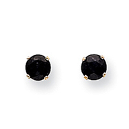14K Gold September Sapphire Post Earrings