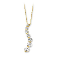 Sterling Silver Vermeil CZ Journey Necklace