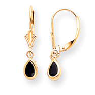 14K Gold Sapphire Earrings - September