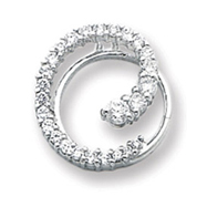 Sterling Silver CZ Circle Journey Pendant