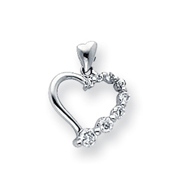 Sterling Silver CZ Journey Pendant