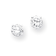 Sterling Silver Heart Shape CZ Earrings