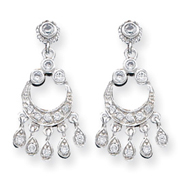 Sterling Silver CZ Chandelier Style Earrings