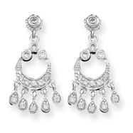 Sterling Silver CZ Chandelier Style Earrings