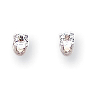 14K White Gold White Topaz  Stud Earrings