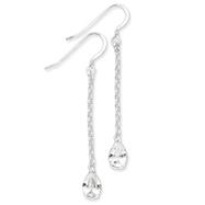 Sterling Silver CZ Dangle Earrings