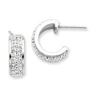 Sterling Silver With Swarovski Crystal Hoop Earrings