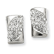 Sterling Silver With Swarovski Crystal Post Earrings