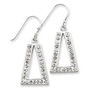 Sterling Silver With Swarovski Crystal Earrings