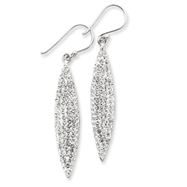 Sterling Silver With Swarovski Crystal Oval Earrings