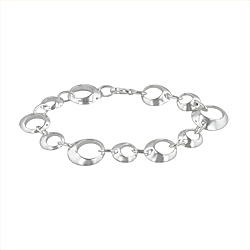 Sterling Silver Open Small and Large Circles Bracelet