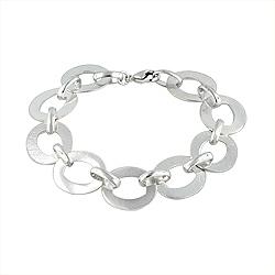 Sterling Silver Open Flat Oval Bracelet