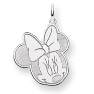 14K White Gold Disney Minnie Charm