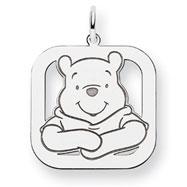 14K White Gold Disney Winnie the Pooh Charm