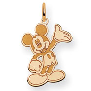 14K Gold Disney Waving Mickey Charm