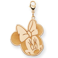 14K Gold Disney Minnie Lobster Clasp Charm