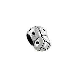 Sterling Silver Large Ladybug Bead