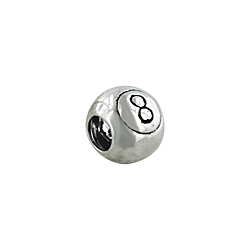 "Sterling Silver ""8"" Bead"