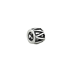Sterling Silver Zigzag Bead