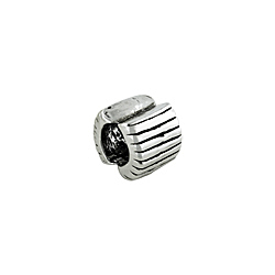 Sterling Silver Lines Bead