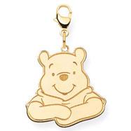 14K Gold Disney Winnie The Pooh Lobster Clasp Charm
