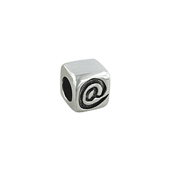 "Sterling Silver ""@"" Bead"