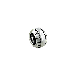 Sterling Silver Tire Bead