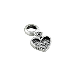 Sterling Silver Dangle Heart Bead