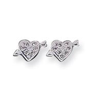 Sterling Silver Heart  Mini Earrings