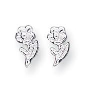 Sterling Silver Flower Mini Earrings