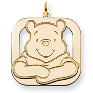 14K Gold-Plated Silver Disney Winnie The Pooh Charm
