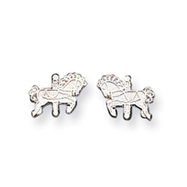 Sterling Silver  Carousel Horse  Mini Earrings
