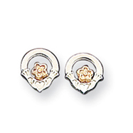 Sterling Silver & Vermeil Claddagh Earrings