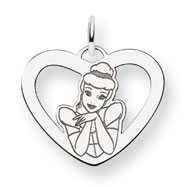 Sterling Silver Disney Cinderella Heart Charm