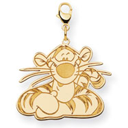 14K Gold-Plated Silver Disney Tigger Lobster Clasp Charm