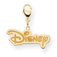 14K Gold-Plated Silver Disney Logo Lobster Clasp Charm