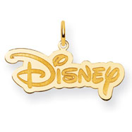 14K Gold-Plated Silver Disney Logo Charm