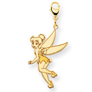 14K Gold-Plated Silver Disney Tinker Bell Lobster Clasp Charm