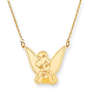 14K Gold Disney Tinker Bell Necklace