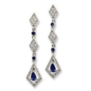 Sterling Silver Mystic Cubic Zirconia  Earrings