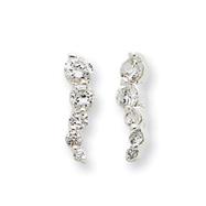 Sterling Silver Cubic Zirconia Journey Earrings