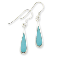 Sterling Silver Dangling Turquoise Earrings