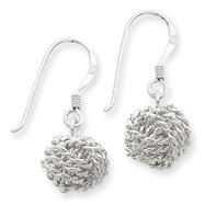 Sterling Silver Satin Love Knot Earrings