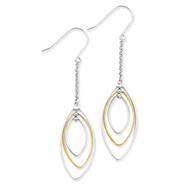 Sterling Silver & Vermiel Dangle Earrings