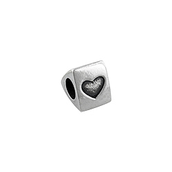 "Sterling Silver ""I Love You"" Triangular Bead"